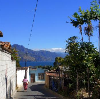My school for the last week was slightly uphill from my hostel. This is the view from the road alongside the school.