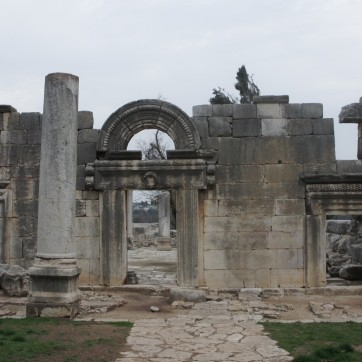 Nearby ruins of a synagogue from the 2nd century. A section of the ruins with hebrew writing on it is in the Louvre. When asked to return it, they sent a replica to the kibbutz that now hangs in their museum.