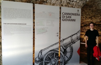 Inside the city walls in San Giovanni's cannoniera