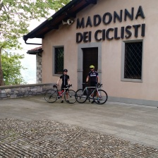 A church dedicated to the Madonna of cyclists