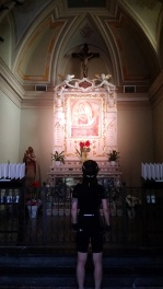Inside the Madonna dei Ciclisti