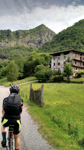A bike path toward San Pellegrino Terme (home of the water!) and San Marco Pass