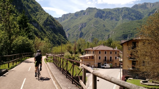 Just an average bike path in Val Brembana