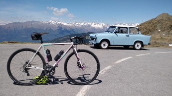 Great car at the top of Passo San Marco