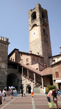 In the old city or Bergamo, Citta Alta